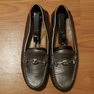 NEW Coach Arlene silver metallic slip on shoes